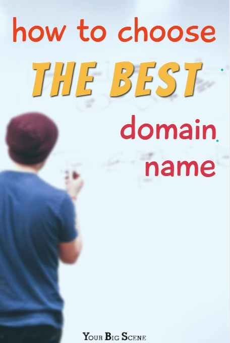 Choosing a domain name is the most important part of launching your online presence. Follow these steps to get it right | www.yourbigscene.com
